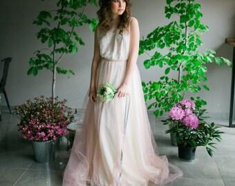 Wedding skirt, tulle skirt, wedding tulle skirt, blush wedding skirt, ivory wedding skirt