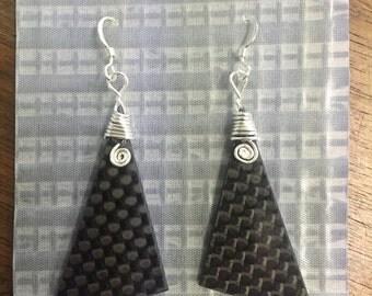 Carbon Fiber Earrings