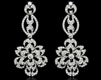 Crystal Rhinestone Wedding Earrings