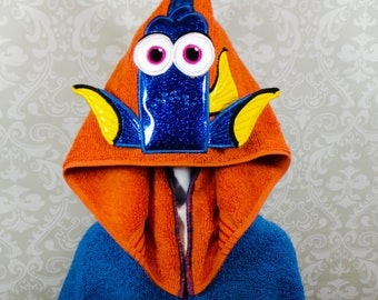 Dory Finding Nemo Inspired Hooded Towel on High Quality Belk Department Store Towel