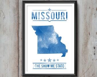 MISSOURI State Typography Print, Typography Poster, Missouri Poster, Missouri Art, Missouri Gift, Missouri Decor, Missouri Print, Missouri