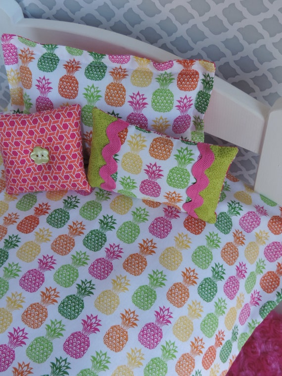 Pineapple Bedding Set For American Girl By Browndaisydesigns
