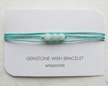 Wish bracelet, amazonite bracelet, wrap bracelet, yoga bracelet