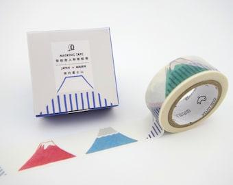 Mount Fuji Washi tape - Japanese washi tape - Mt. Fuji washi tape - masking tape - Japanese mountain washi tape - Japan tape - Asian tape
