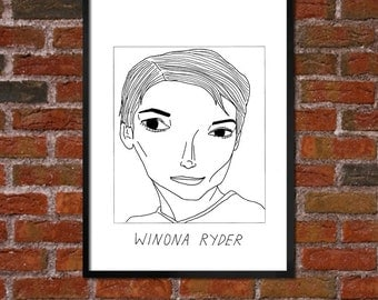 Badly Drawn Winona Ryder - Poster