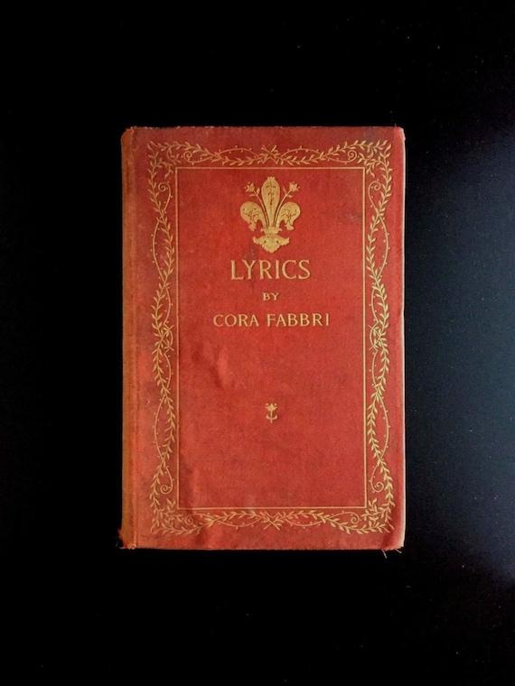 Lyrics, by Cora Fabbri, 1...