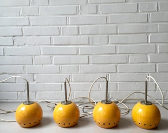 Vintage lamp four piece, ball, Balllamp, rare, space age, mid century dining table