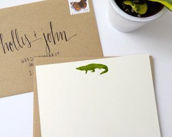 Alligator Stationery - Set of 12 Correspondence Cards