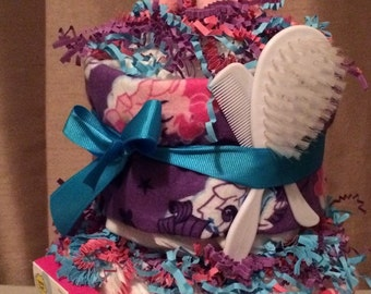My Little Pony themed Small 2 tier Baby Diapercake  Diaper Cake