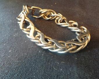 SALE Vintage Silver Coro Branded Chain Link Bracelet