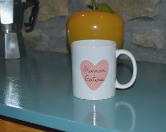 "Mothers day ""MOM cake"" Cup anniversary mug"