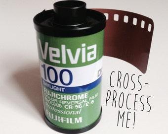 Fujichrome Velvia Dia film 100-36 - Expired 35mm film for cross-processing