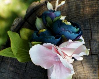 Ranunculus Boutonniere, Wedding flowers, Blue Boutonniere, Button Hole, Groom Groomsmen Wedding Flower, Wedding Boutonnieres