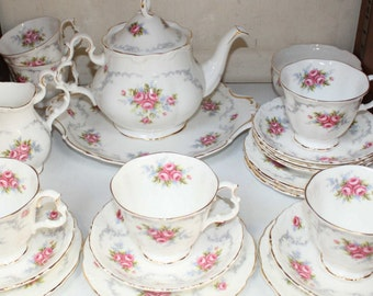 Superb Royal Albert TRANQUILITY Tea Set For Six 21 Pieces For Tea Party Immaculate