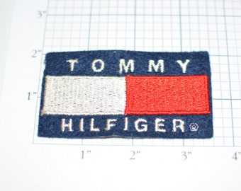 Tommy Hilfiger Iron-On Patch Blue Background -Free Shipping *Limited Stock* s8