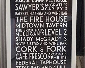 Harrisburg, Pennsylvania, 2nd Street Bar/Restaurant Print