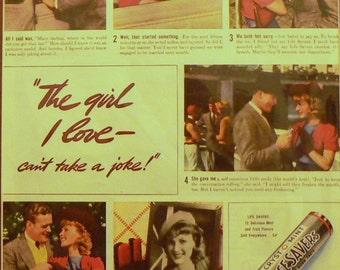 1938 Life Savers Ad Matted Vintage Print