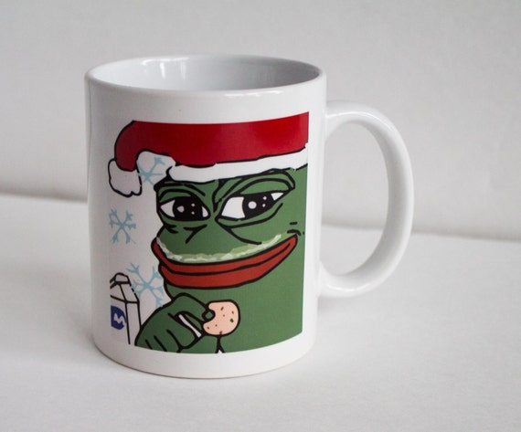 Funny Meme Coffee Mugs : Pepe the frog christmas mug funny coffee meme by