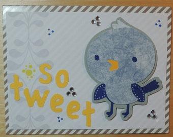 So Tweet_blue bird card
