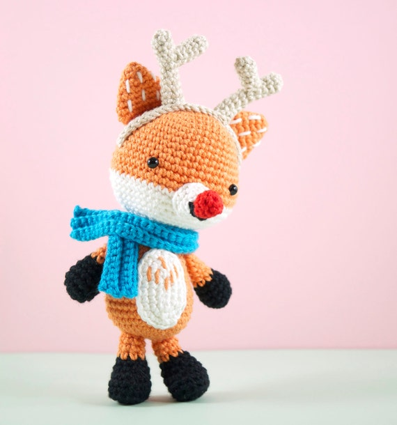 Zelda Amigurumi Patterns : Amigurumi crochet fox Freddie the Fox who by BubblesAndBongo