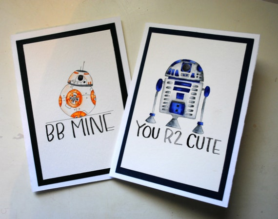 One blank greeting card valentines day birthday card r2 d2 bb one blank greeting card valentines day birthday card r2 d2 bb m4hsunfo