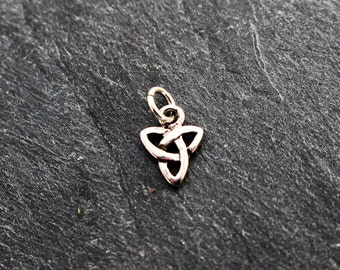 Celtic Trinity Knot Charm, Sterling Silver, Small