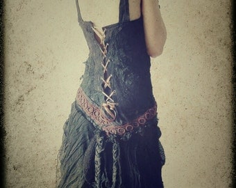 On Sale...Black Orchid Dress. Dark Mori, Bohemian,Victorian Corset dress