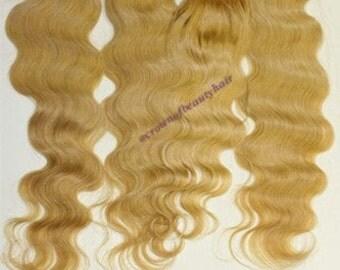 Coloured Hair, Blonde Coloured Hair, 100% Human Hair, Remy Hair,Virgin Hair,Weft Hair,lace Closure,Blonde Hair,Bundle length,Hair