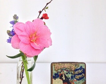 Antique Muratti Cigarette Tin With All original papers War Advice After Lunch Cigarettes Manchester London Vintage Tin Vintage Tobacciana