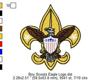 INSTANT DOWNLOAD: Boy Scouts Eagle Logo Embroidery Files
