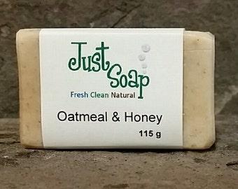 Oatmeal & Honey Soap, Unscented Soap, Oatmeal Soap, Honey Soap, Exfoliating Soap