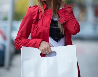 Italian Patent Leather Tote, Borsa di cuoio, Large leather bad, White Leather Bag, Leather Tote Bag, HandMade Leather Bag by  EUGfashion