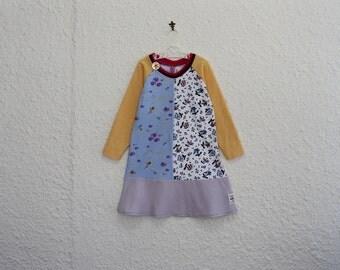 T Shirt Dress, Child's Size 4, Recycled T Shirt Dress, Repurposed Tshirt Dress,  Little Girl's Dress, Toddler Dress, Handmade T Shirt Dress