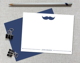 Mustache Personalized Stationery / Mustache Personalized Stationary / Mustache Note Cards / Mustache Father's Day Gift