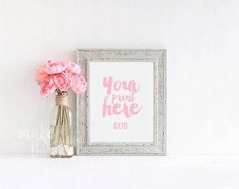 8x10 grey frame / Styled stock photography / Instant download / vertical frame / #0901
