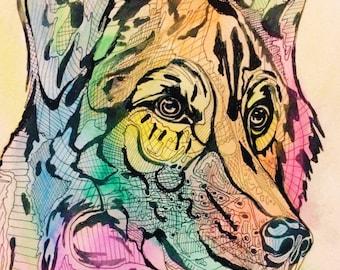 "Fabulous Wolf 8""x10"" Print"