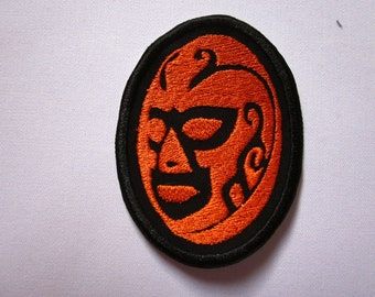 Mexican Wrestler Mask Iron or Sew On Patch