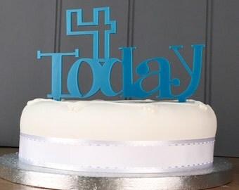 4th Birthday Cake Topper