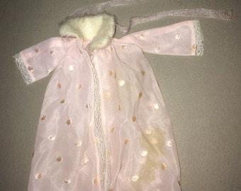 Barbie Sleepwear Barbie Nightgown Barbie Pink Robe Barbie Pajamas Slumber 12-inch Doll Sleepwear Midge Sleepwear 12 inch doll sleepwear
