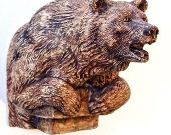 Warrior Bear Sculpture for your wall, Commemorative Fine Art Edition