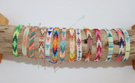 bracelet en perles miyuki tiss es par lapetitemarseillaise sur etsy. Black Bedroom Furniture Sets. Home Design Ideas