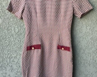 Red checked Ms Choice California dress