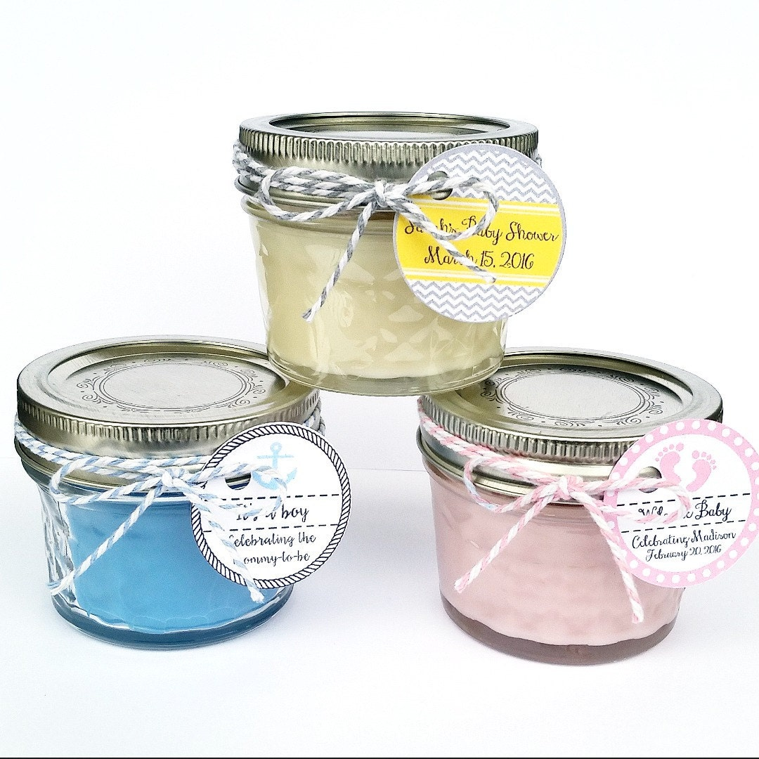 Baby Shower Favors Candles ~ Baby shower favor candles mason jar favors rustic