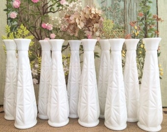 Milk Glass Vases Wedding Centerpiece Vases for Wedding Vases Vintage Milk Glass Bud Vase White Vases Bulk Vases Bridal Shower Centerpiece