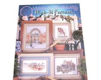 Pick It Fences Cross Stitch Patterns 4 Fence Cross Stitch Leaflet   X Stitch Patterns Books  Needlework Garden Cross Stitch Pattern