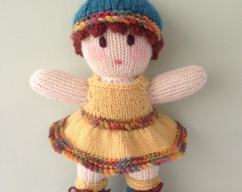 Knitted Doll.Australian made Toy.