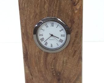 Michael Elkan Maple Leaf Studio Burl Wood Clock