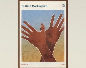 "Harper Lee ""To Kill a Mockingbird"" - Large Literature Minimalist Book Cover Poster, Literary Print, Modern Home Decor, Instant Download"
