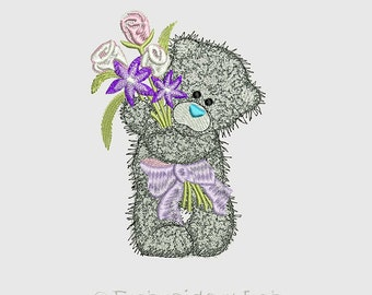Bear Teddy - machine embroidery design