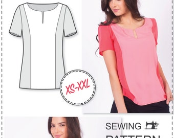 Blouse Patterns - Top Patterns - Womens Sewing Patterns - Blouse Sewing Patterns - T Shirt Sewing Pattern -  Sewing Pattern For Woman